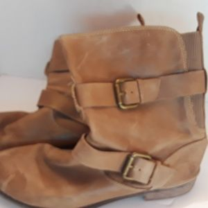 Montana Leather Ankle Boots,  9.5